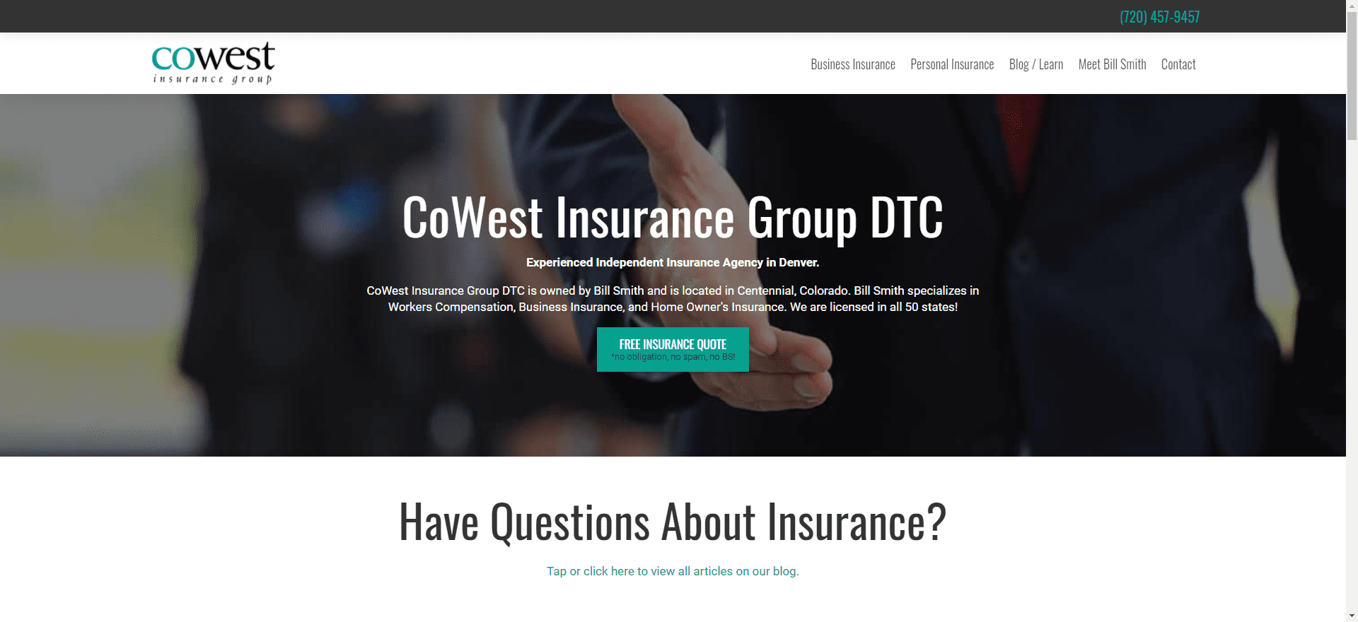 """Featured image for """"Insurance Agency Website"""""""