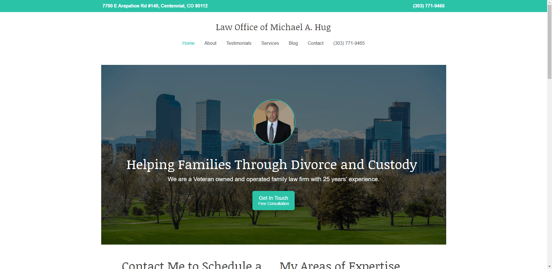 Screenshot of the website I built: join.coloradohomerealty.com