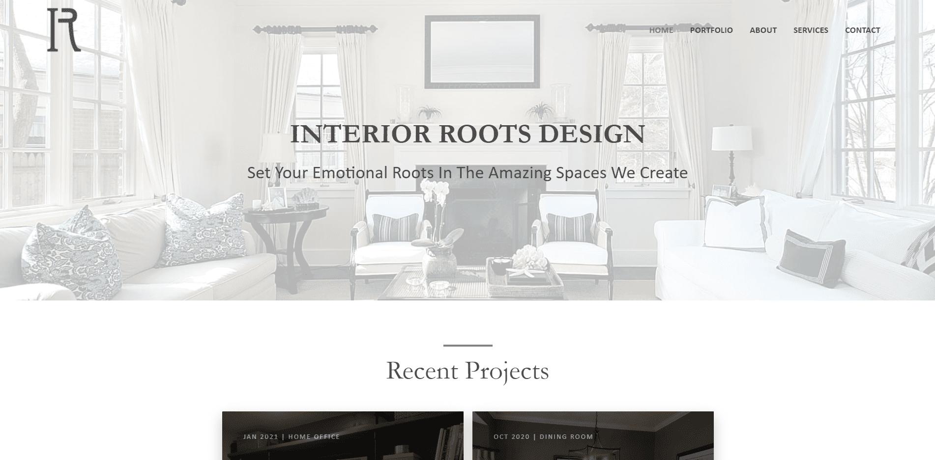 """Featured image for """"Interior Designer Website and Portfolio"""""""